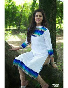 Online F Fashion Pure Cotton Straight Cut Designer Kurti Catalog Best low price buy