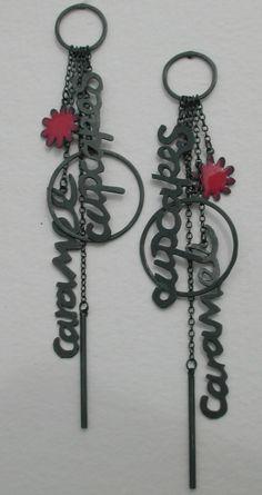Nicola Becci - Caramel Cupcakes earrings (oxidised silver, cold enamel)