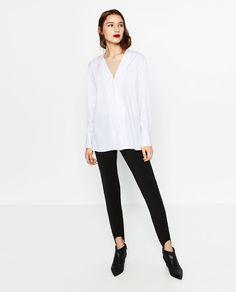 Image 1 of POPLIN SHIRT from Zara