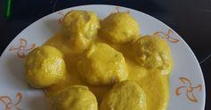 Albondigas de pescado con salsa de curry