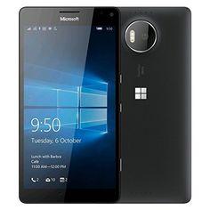 Microsoft Lumia 950, Black 32GB - GSM Unlocked - Certified Refurbished  https://topcellulardeals.com/product/microsoft-lumia-950-black-32gb-gsm-unlocked-certified-refurbished/  Camera: 20-MP Windows 10 Mobile 32GB storage/expandable to 200GB via microSD