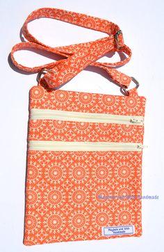 Tangerine 'Emily' Bag cross body bag fabric bag by MayboleandWick