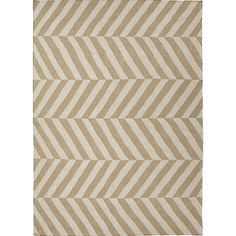 Jaipur Rugs FlatWeave Stripe Pattern Taupe/Ivory Wool Area Rug MR28 (Rectangle)