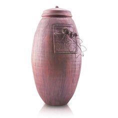 Oak and Acorn Ceramic Cremation Urn