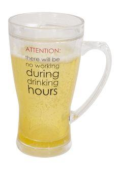 Attention 14 oz. Beer Mug