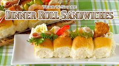 Dinner Roll Sandwiches (Tear 'n' Share Bread) ちぎりパンサンドの作り方 - OCHIKERON -...
