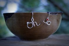 "NEW! SCRIPT OHIO Sterling ""Oh-I0"" Earrings, Handcrafted, Artisan Quality, Ohio State Buckeyes by FLAIRandMOORE on Etsy"