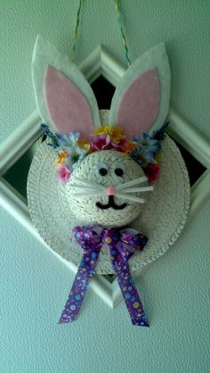 Easter Wreath from Straw Hat