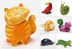 Animais frutas