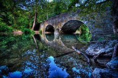 Chestnut Hill Bridge over the Wissahickon  Bells by CharlasShop, $25.00 Best Vacation Destinations, Vacation Spots, Great Places, Places To See, Beautiful Places, American Day, Chestnut Hill, Great North, Day Hike