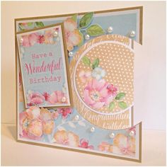 Designed by Nicky Gilburt for Craftwork Cards using Boutique Floral Collection