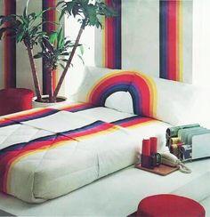 Iconic Vintage 80s Rainbow Striped 3pc by PaddywhackKnickKnack