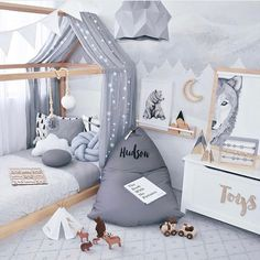 """358 Likes, 33 Comments - Kids Kulture - Danielle (@kids.kulture) on Instagram: """"Boys bedroom perfection! We love this room and the simple use of grey and white tones. Featured is…"""""""