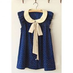 Preppy Style Tiny Floral Print Flounce Flying Sleeve Summer Chiffon Shirt For Women