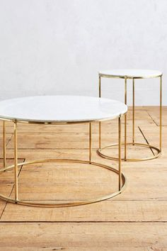 White Marble And Metal Round Accent Table By World Market End - White marble and metal round accent table