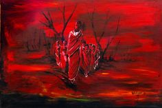 African Artwork #red #black #family #history #culture #powerful #africanartwork #art #strong #blackispowerful #africanpainting African Artwork, African Paintings, African Culture, Family History, Red Black, Strong, Genealogy, African Art