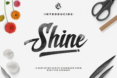 New shine script by Rvq Type Foundry on @creativemarket