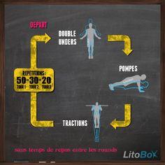 Entraînement du 27/11/2013 WOD CrossFit 50-30-20 : double unders, pompes, tractions