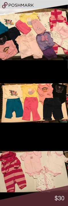 Lot of baby girl clothes. 0-3 months. Like new baby girl clothes. 0-3 months. Gap & other brand names GAP Matching Sets