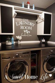 My new laundry room. Laundry room reveal. Laundry room ideas.