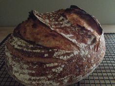Wholemeal and white sour with a wicked oven spring