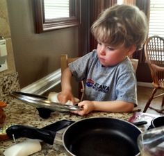 Check out these 25 chores for preschoolers, they're definitely not too young to start learning responsibility and help you out!