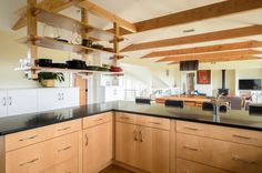 Martha's Vineyard open shelves kitchen from another viewpoint