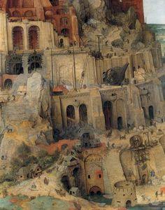 Pieter Brueghel the Elder - The Tower of Babel (the second version), details.1564