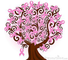 Breast Cancer Pink Ribbon Tree Royalty Free Stock Images - Image: 16942749