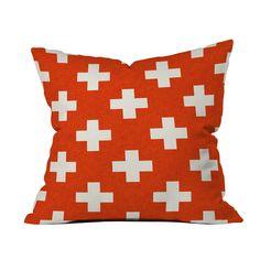 Holli Zollinger Vermillion Plus Throw Pillow by DENY Designs at Gilt Modern Throw Pillows, Outdoor Throw Pillows, Decorative Throw Pillows, Pillow Set, Throw Pillow Covers, Duvet Covers, Floor Pillows, Accent Pillows, Dot And Bo