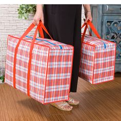 2017 new large woven bag bag pack up and move super thick Oxford cloth waterproof bag luggage wrapped in snakeskin bag