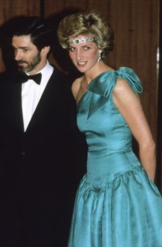 Princess Diana attends a ball during a tour of Australia on October 31, 1985 in Melbourne, Australia.