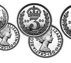 The Queen Elizabeth II 2000 Millennium Year Set of Maundy Coins Queen Elizabeth Ii, Coins, Coining, Rooms