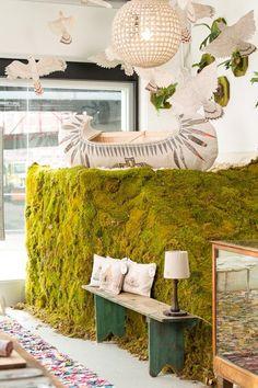 The window display at Coral & Tusk's pop-up shop in Williamsburg | Design*Sponge
