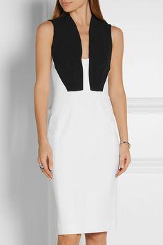 Antonio Berardi | Cutout two-tone stretch-crepe dress | NET-A-PORTER.COM