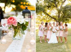 Love this color palette for the details & the bridal party!