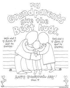 Grandparent coloring pages