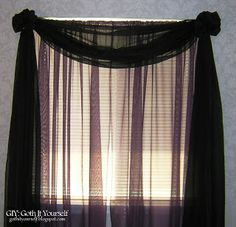 GIY: Goth It Yourself: Window Treatments: Leave No Evidence (Add curtains over mini blinds with no nailing)