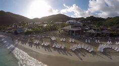 Anse Marcel Beach - Saint-Martin. Here you can visit a calm, beautiful beach with beach bar and restaurant for some great drinks and food.