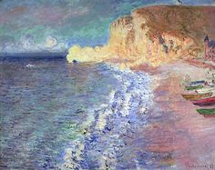 Morning at Etretat, 1883 (oil on canvas) by Monet, Claude (1840-1926):