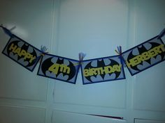 Batman bday banner