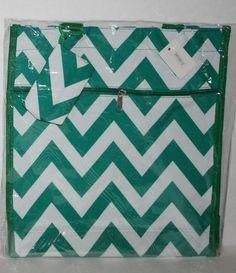 Green Chevron Shopper Tote Diaper Bag Purse -$12.95