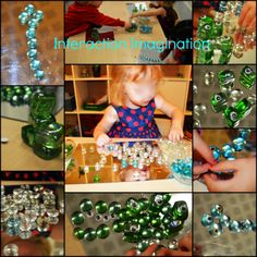 """Using beads and googly eyes to create art -  from Interaction Imagination ("""",)"""