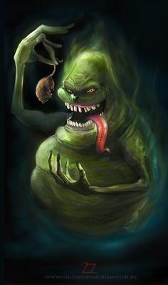 Wer sagt, ich bin ein Hai? Sie ist doch nur ein kleines Mäuschen!!!.....Ghostbusters - Slimer by ~2zer