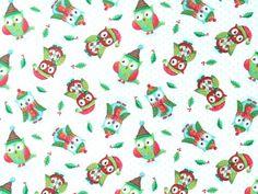 SPX Fabrics - Steve Haskamp 'Owl Be Home For Christmas' we-159-11-7099