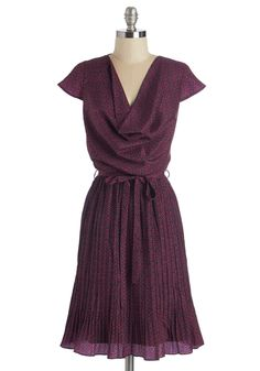 Either Orientation Dress in Cap Sleeves. The first hour into orientation for your new job, you knew that you were wise to wear this waist-tied dress by Yumi.