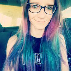 Mermaid hair #hair #ombre #pinkhair #turquisehair