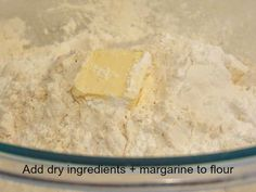 adding dry ingredients and margarine to flour for trinidad style fry bake Bake And Saltfish, Store Bought Pizza Dough, Trini Food, Caribbean Recipes, Fried Fish, Recipe For 4, Something Sweet, Foodie Travel, Street Food
