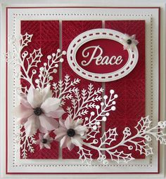 Hi bloggers! I originally did this card in a black and white theme, but decided to demo it in a red and white theme. I am glad I did...
