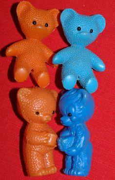 Antik 4x Teddy Bär Teddybär 7 cm DDR 60èr Jahre Kult Plaste Plastik | eBay